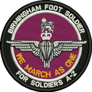 Birmingham March Embroidered Badge